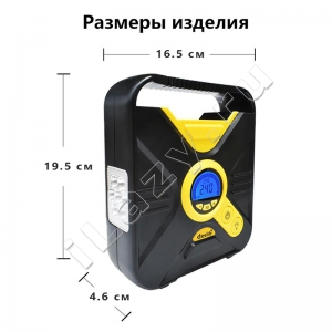 Цифровой автомобильный компрессор Deelife (до 7 атм, дисплей, функция автостоп)