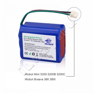 Аккумуляторная батарея GPRHC202N026/4409709 Ni-MH, 2500mAh, 7.2V (iRobot Braava 380, 380T, 390, 5200B, Mint 5200, 5200C, PROSCENIC Pro JOJO)